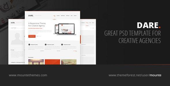 Dare - Premium Multi-Purpose PSD Template - Corporate Photoshop