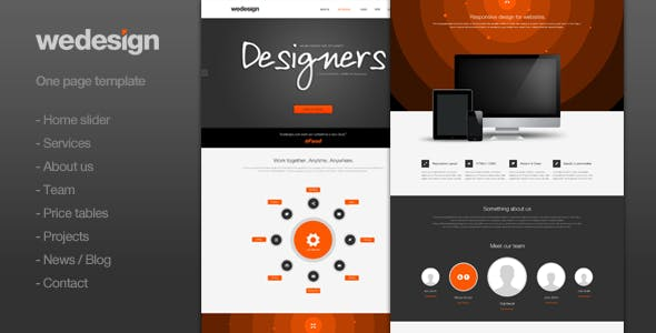 We Design - One page portfolio