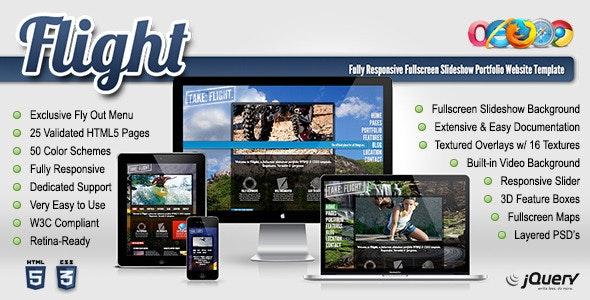 Flight - Responsive Fullscreen Background Template - Portfolio Creative