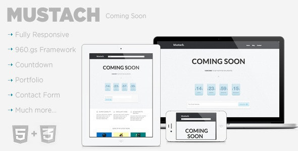 Mustach - Coming Soon  - Under Construction Specialty Pages