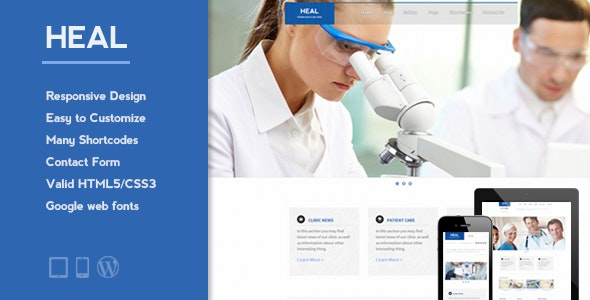 HEAL - Responsive Medical WordPress Theme - Health & Beauty Retail
