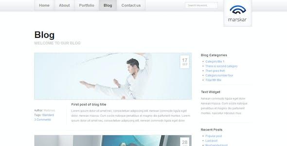 marskar - Responsive HTML5/CSS3