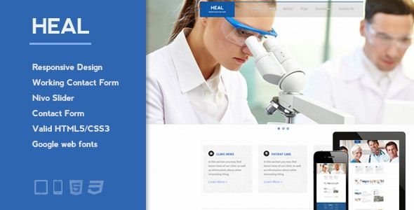Heal - Responsive Medical and Health HTML Template - Health & Beauty Retail