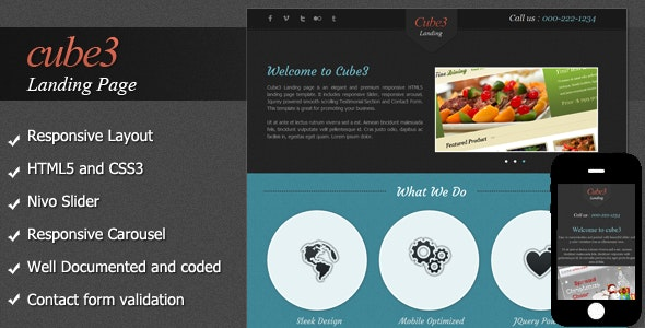Cube3 Landing Page   - Portfolio Creative