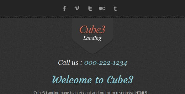 Cube3 Landing Page