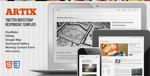 Artix - One Page Responsive Bootstrap Template - Portfolio Creative