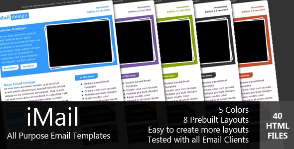 iMAIL - All Purpose Email Template  - Newsletters Email Templates