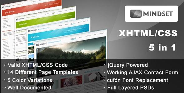 Mindset - HTML Portfolio, Magazine template - Photography Creative