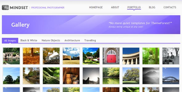 Mindset - HTML Portfolio, Magazine template