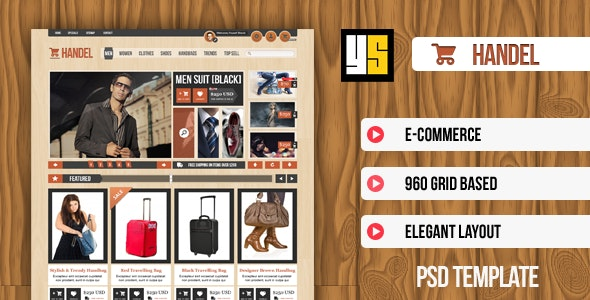 Handel | eCommerce PSD Template - Retail Photoshop