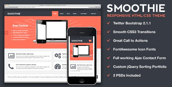 Smoothie - Responsive HTML Theme - Business Corporate