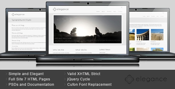 Elegance - Simple and Elegant HTML Template - Business Corporate