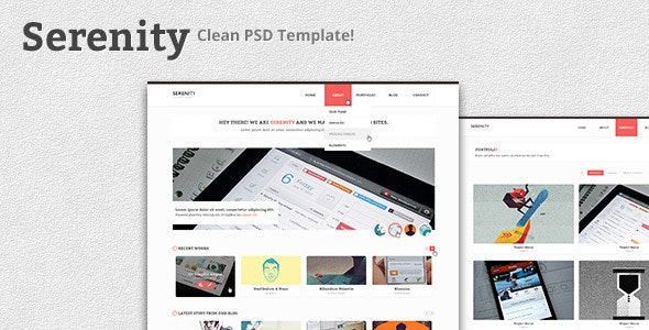 Serenity - Clean PSD Template - Creative Photoshop