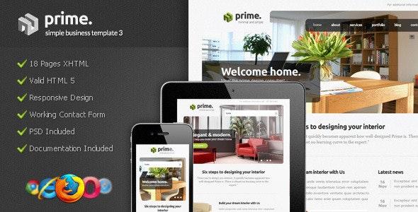 Prime - Simple Business Template 3 - Corporate Site Templates