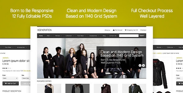E-commerce PSD Template - Shopping Retail