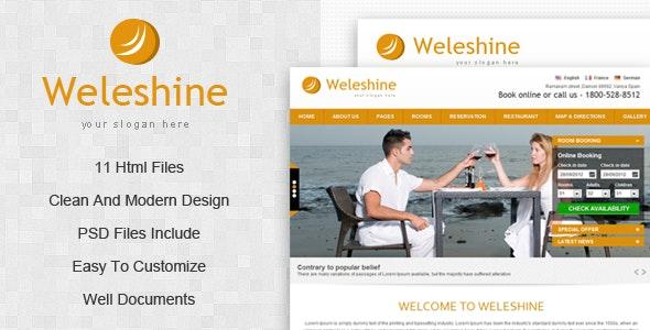 Weleshine Hotel Template - Travel Retail