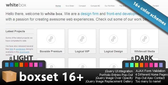 BOXSET 16 - The Premium Collection - Creative Site Templates