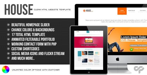 House - Clean HTML Website Template - Portfolio Creative