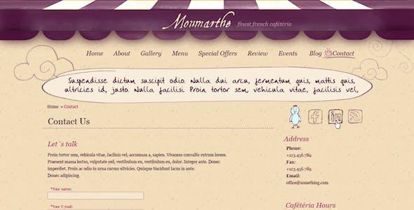 Monmarthe - Restaurant & Cafe PSD Template