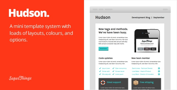 Hudson Email template - Email Templates Marketing