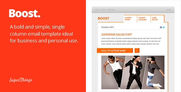Boost Email template - Email Templates Marketing