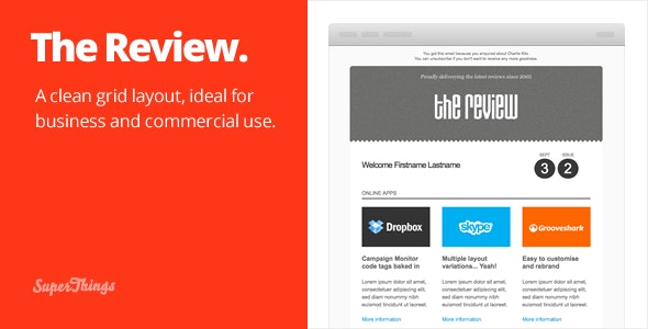 The Review E-newsletter design - Email Templates Marketing