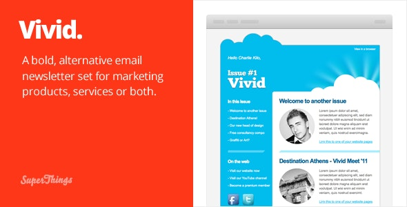 Vivid Email Newsletter - Email Templates Marketing