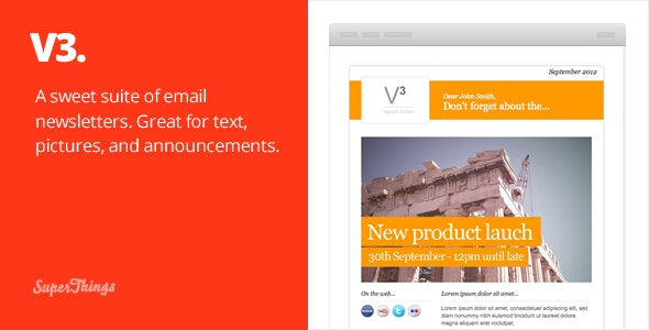 3 Email Newsletter designs - Newsletters Email Templates