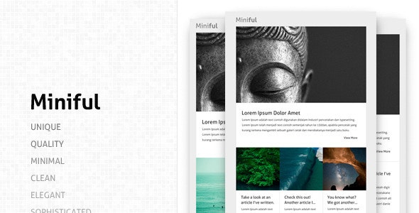 Miniful- A Minimal Email Template - Email Templates Marketing