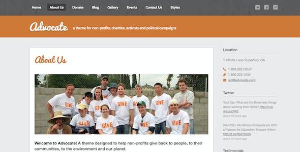 Advocate - A Nonprofit Responsive HTML Template