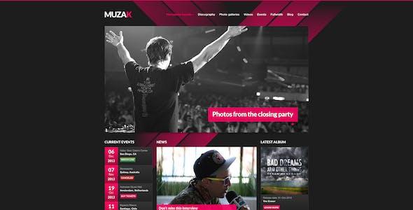 Muzak - Premium Music Site Template