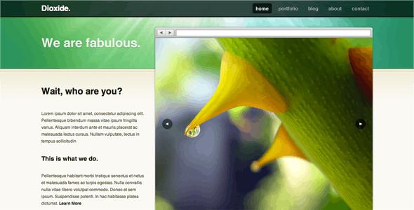 Dioxide Wordpress - Portfolio Creative