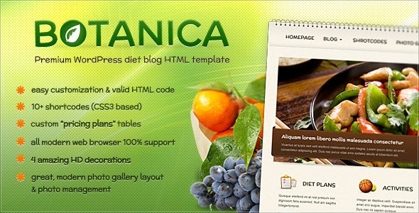 Botanica - Diet & Fitness HTML Template - Nonprofit Site Templates