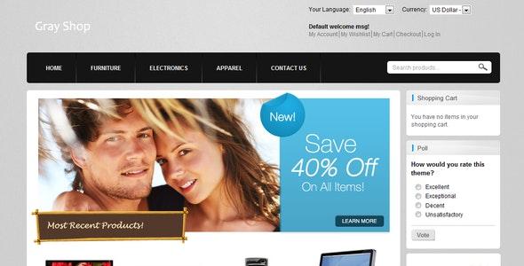 Gray Shop - Shopping Magento