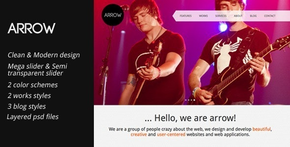 Arrow: Clean and Creative HTML Template  - Portfolio Creative