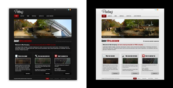 Dark and Light Business Template - Business Corporate