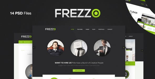 Frezzo - Clean & Multi Purpose PSD Template