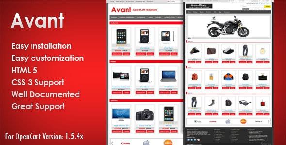 AvantShop - Premium OpenCart Template - OpenCart eCommerce