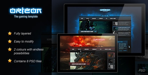 Orizon - The Gaming Template - Portfolio Creative