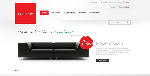Platform Red - Shopping Magento