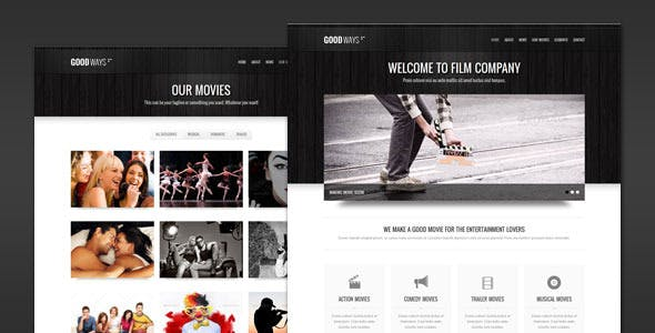 Goodways - Entertainment and Film WordPress Theme