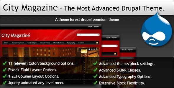 City Magazine - The Most Advanced Drupal Theme.