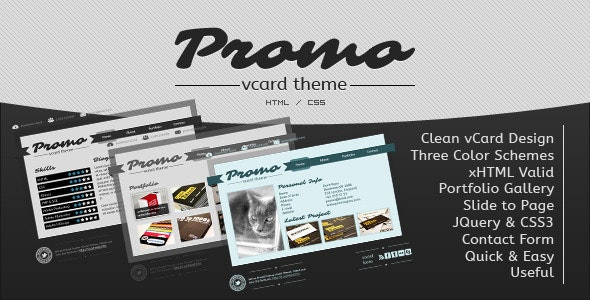 Promo vCard Template - Virtual Business Card Personal