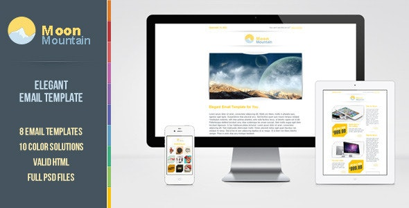 MoonMountain Email Template - Email Templates Marketing