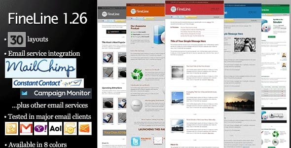 FineLine - Email Template - 30 Layouts 8 Colors