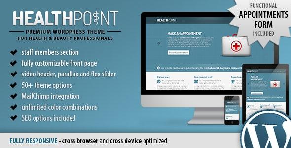 Health Point - Responsive WordPress Landing Page - Health & Beauty Retail