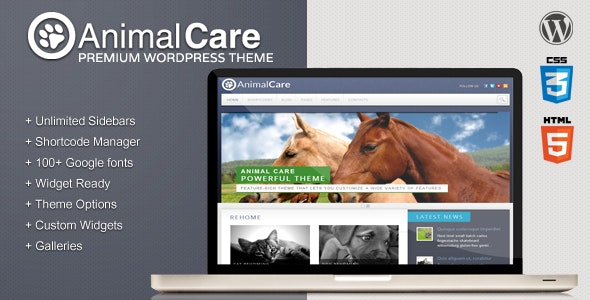 Animal Care - Premium Wordpress Theme - Activism Nonprofit
