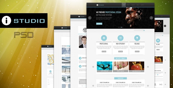 IStudio-PSD Template - Creative Photoshop