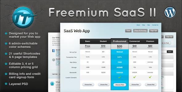 Freemium SaaS Wordpress CMS + Blog Theme II - Marketing Corporate