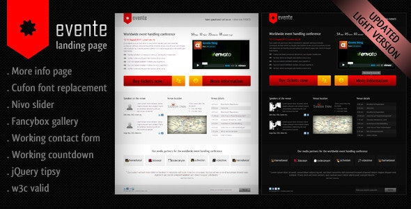 Evente Landing Page - Events Entertainment